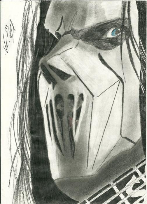 Portrait Of Mick Thomson By Vitor199 On Stars Portraits 1